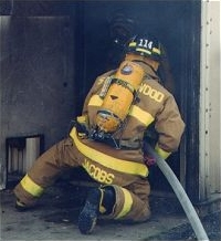 Firefighters perfect their skills during training.