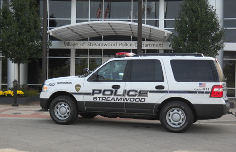 2007 SUV in front of new Police Station